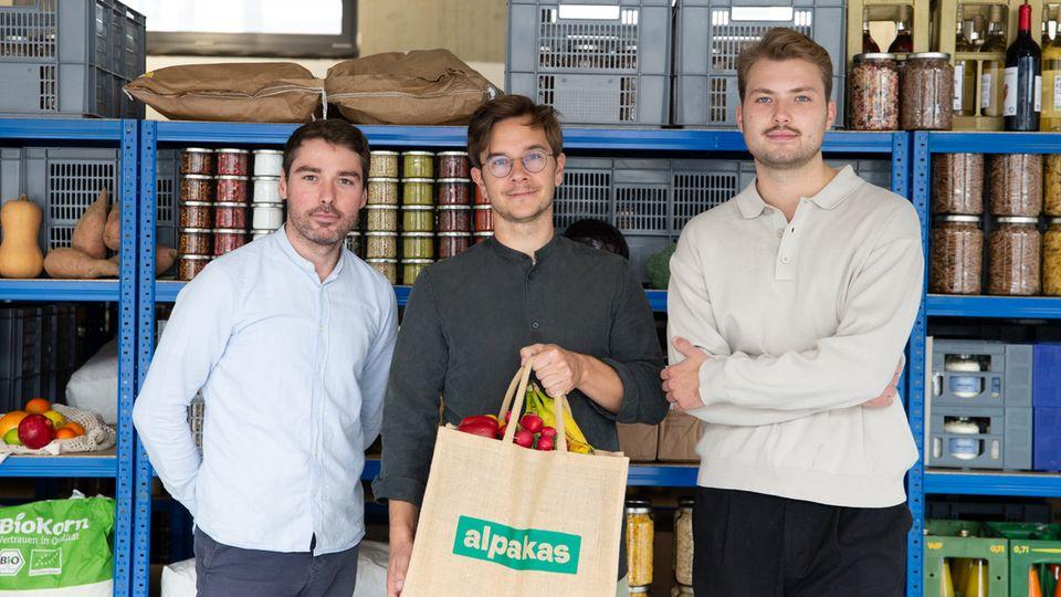 Die Alpakas-Gründer, von links:TomyEitner, 31, SimonChorzelski, 36, und AntonyRoczek, 25