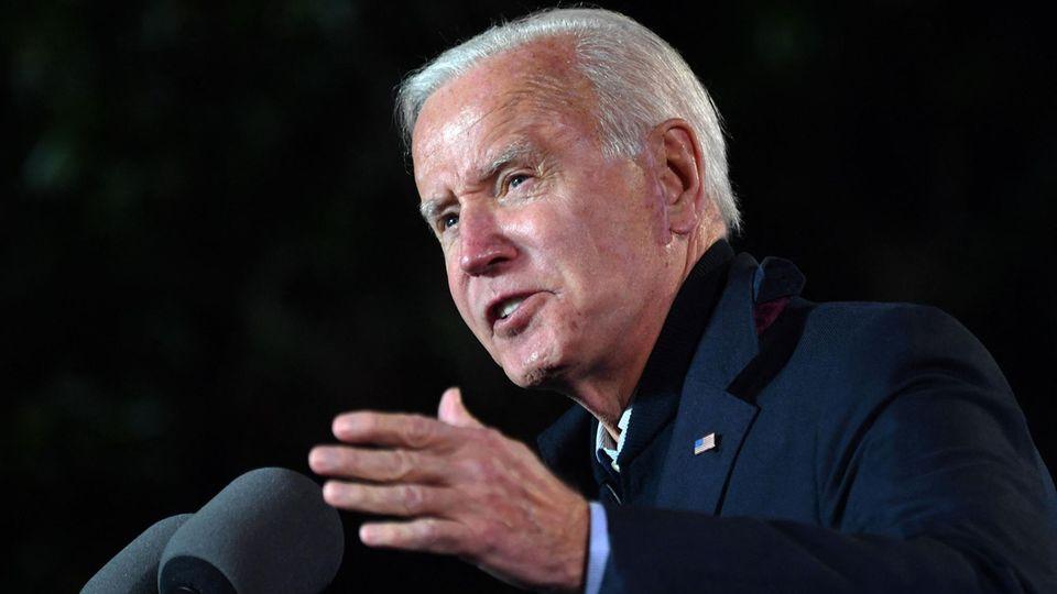 Joe Biden bei einem Auftritt in Arlington im US-Bundesstaat Virginia