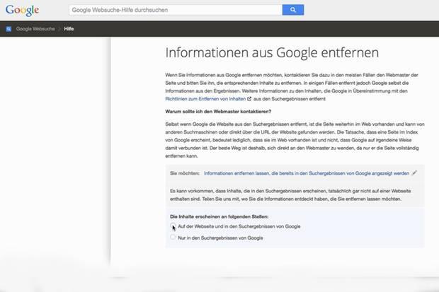 Tipps Und Musterschreiben Informationen Aus Google Löschen Sternde
