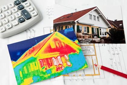 Das Wärmebild zeigt: Dieses Haus müsste dringend saniert werden