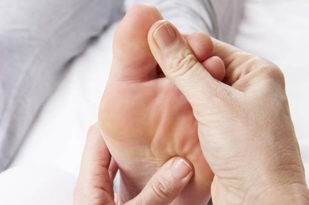 Gribok der Nägel auf den Beinen der Hygiene