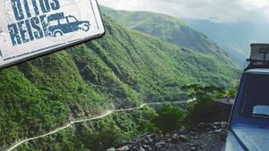 400 Kilometer am, steilen Berghang entlang: Die Yungas-Straße in Bolivien gilt als gefährlichste Straße der Welt.