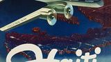 Die einst führende internationale Fluggesellschaft der Vereinigten Staaten: PanAm flog mit ihren Clippern genannten Maschinen auch Ziele in der Karibik an, wie dieses Plakat von 1949 dokumentiert. Heute benötigen Jets für dieselbe Strecke nach Port-au-Prince zwei Stunden.