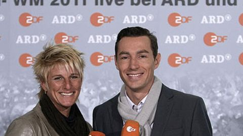 """""""Absehbar war das ganz sicher nicht"""": ZDF-Expertin Silke Rottenberg und Moderator Sven Voss waren wohl die einzigen, die vom WM-Aus der Deutschen überrascht wurden"""