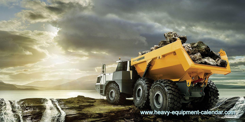 Ein Monster-Kofferraum: 26 Kubikmeter und 40 Tonnen Nutzlast nimmt der der Liebherr Dumper TA 240 mit auf die Reise. Hier genießt der Gigant die Abendstimmung in den schottischen Highlands.