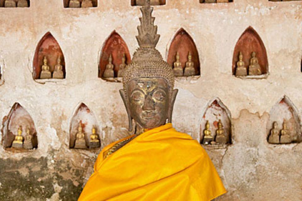 Der Wat Si Saket ist ein buddhistischer Wat, der religiösen Zwecken in Vientiane dient, der Hauptstadt von Laose u.a. ein Museum