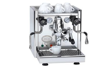 Edel und stark: Eine auf Hochglanz polierte Espressomaschine von ECM