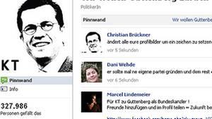 Immer mehr Menschen fordern bei Facebook die Rückkehr Karl-Theodor zu Guttenbergs in die Politik