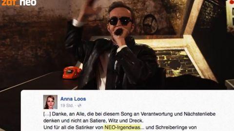 Auch Anna Loos äußerte sich auf Facebook negativ zu Jan Böhmermanns Video-Rant