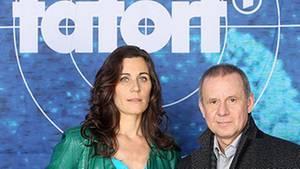 "Joachim Król und Nina Kunzendorf im ""Tatort"""