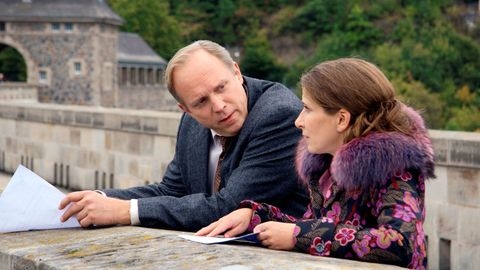 LKA-Ermittler Felix Murot (Ulrich Tukur) und Magda Wächter (Barbara Philipp) ermitteln am Edersee