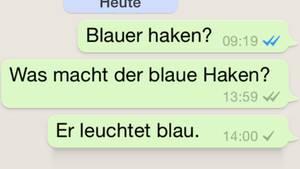 Die blauen Haken sorgen bei vielen Whatsapp-Nutzern für Ärger