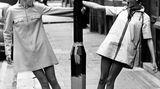 Der Twiggy-Style fand schnell Nachahmer: Hier trifft das britische Model auf ihre schwedische Doppelgängerin, die 16-jährige Kerstin Lindberg.