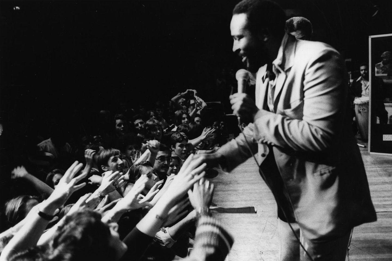 """Marvin Gaye war neben Stevie Wonder der größte Künstler, den das Label hervorbrachte. In den 60er Jahren landete er zahlreiche Hits, solo (""""I Heard It Through the Grapevine"""") oder im Duett mit Tammy Tarrell (""""Ain't No Mountain High Enough"""", """"Your Precious Love""""). In den 70er Jahren entwickelte er einen symphonischen Soul, der am besten auf Albumlänge funktionierte. Seine LP """"What's Going On"""" aus dem Jahr 1971 setzt sich mit dem Zustand eines vom Vietnamkrieg traumatisierten Landes auseinander. Aufgrund der Texte und der anspruchsvollen orchestralen Arrangenemts der Musik, die Einflüsse von Klassik und Jazz mit aufnimmt, gilt """"What's Going On"""" heute als eine der besten Platten aller Zeiten."""