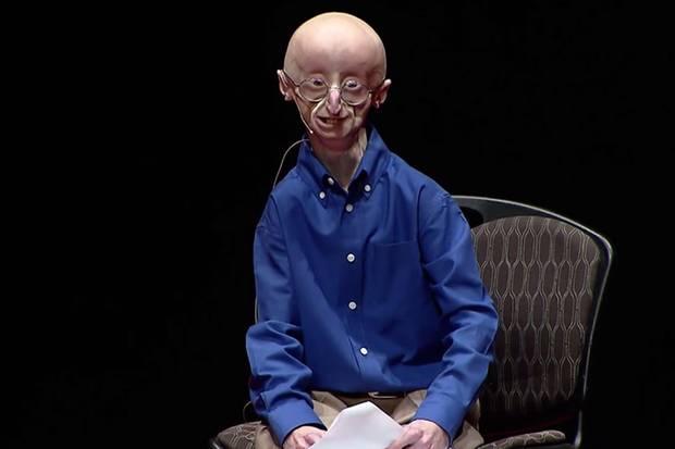 Sam Berns bei einem Vortrag, drei Monate vor seinem Tod.