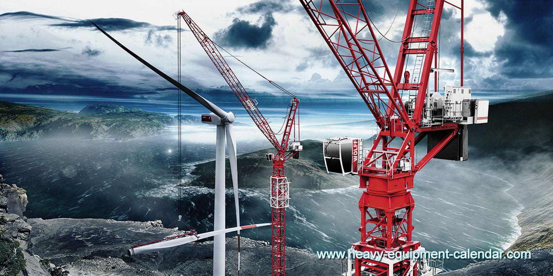 Umweltbewusste Arbeiten sind die Spezialität des Wolffkran 700B. Er kann Windkraftanlagen in schwindelerregenden Höhen errichten und hebt 80 Tonnen schwere Bauteile bis auf 150 Meter Höhe. Der Spezialkran ist extra für den Bau von Windkraftanlagen konzipiert.