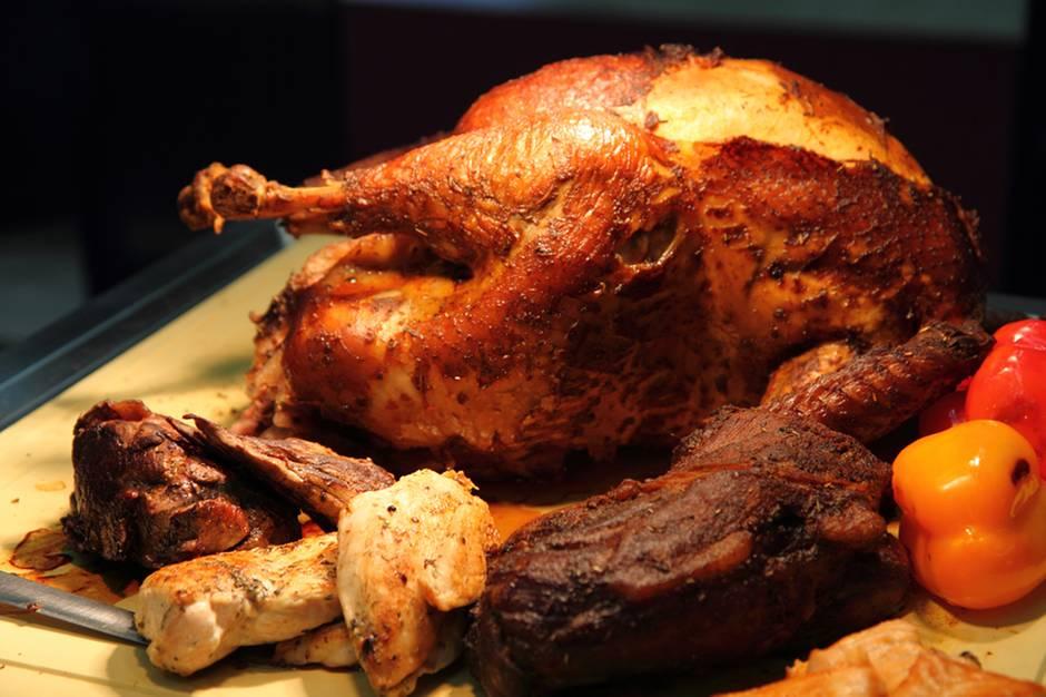 """Das Wichtigste an Thanksgiving ist das gemeinsame Essen und der Hauptdarsteller """"Turkey"""", denn ohne den Vogel wäre es kein richtiges Fest."""