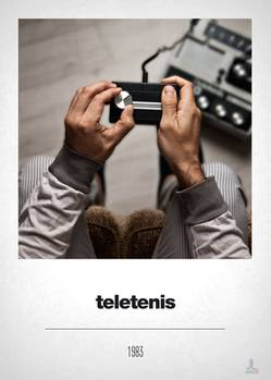 """Minimalistisch: Der Controller für das Spiel """"Teletennis"""" ist nur ein flaches schwarzes Kästchen mit einem einzelnen silbernen Knopf."""