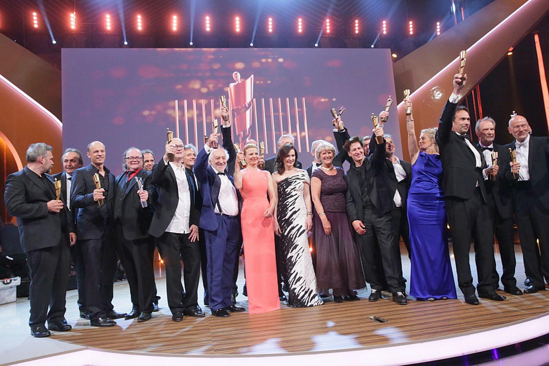 """Die Preisträger des 64. Deutschen Filmpreises """"Lola"""". Bora Dagtekin, der Regisseur des Films """"Fack ju Göhte"""", bekam nur den Preis für den besucherstärksten Film und ging ansonsten leer aus."""