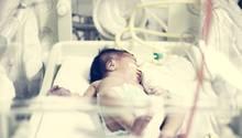 Kuscheln ist nicht: Frühgeborene müssen im wärmenden Brutkasten liegen und über Schläuche und Kabel versorgt werden. Durch die seitlichen Luken können Eltern und Pfleger zwischendurch ein bisschen Händchenhalten mit ihnen.