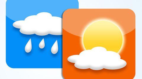 Welche Wetter-App ist gut und welche nicht? Stiftung Warentest hat acht Anwendungen getestet.