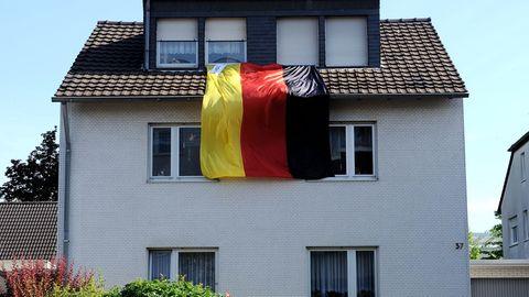 """Fotoserie """"Schland"""": Deutschland einig Fahnenland"""