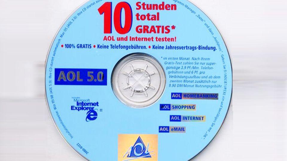Einwahl-CDs fürs Internet: 2,3 Millionen Menschen zahlen noch für AOL-Abos