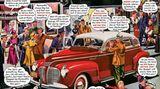 """In den 40er Jahren war der Plymouth in den USA ein sehr angesehenes Auto und galt als besonders preisgünstig. In der Werbung wurde er 1940 denn auch als """"low-prized luxury car"""" angepriesen."""