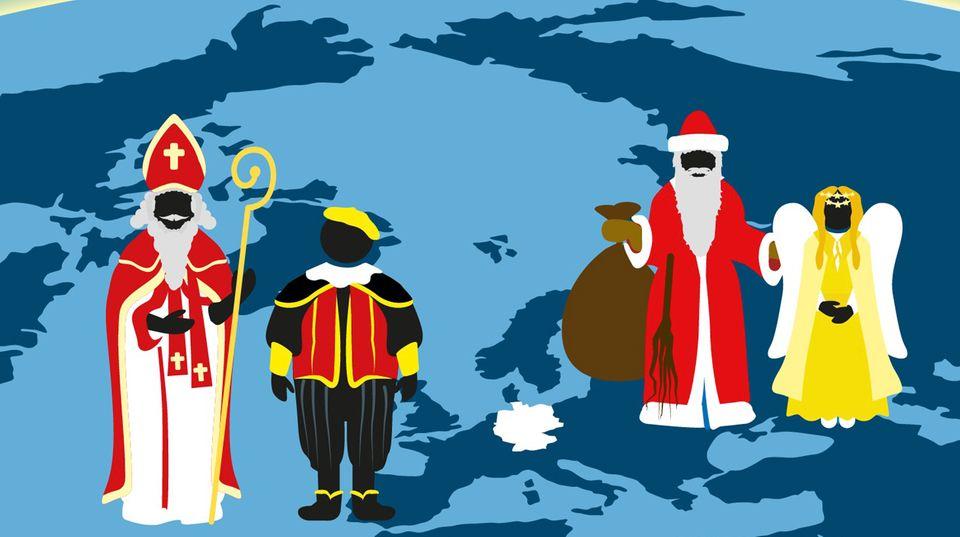 Nikolaus, Weihnachtsmann, Christkind,