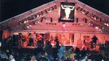 """Ein Jahr später war das Festival immer noch beschaulich, wie dieses Bild aus den Anfangstagen zeigt. 1300 Besucher zog es 1992 in die Kiesgrube 50 Kilometer nordwestlich von Hamburg. Neben """"Skyline"""" standen regionale Bands auf der Bühne, darunter die AC/DC-Coverband """"Bon Scott"""", """"Gypsy Kyss"""", """"Kilgore"""" und """"Ruby Red""""."""