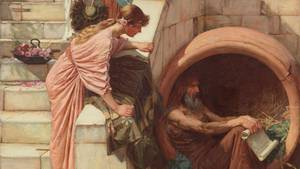 Diogenes in der Tonne