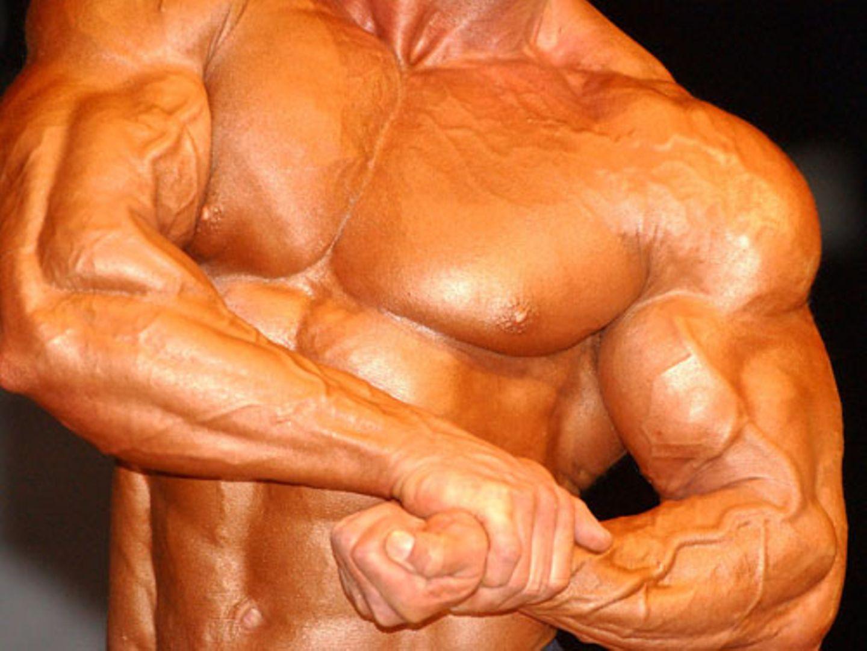 Solche Muskeln erreicht man nur durch hartes Training - und vielleicht schon bald durch Mainpulation von Genen