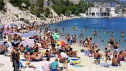 Frankreich ist beliebt bei deutschen Urlaubern. Wie hier an der Mittelmeerküste bei Marseille