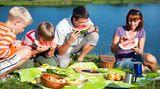 Meiden Sie Lockstoffe wie Früchte, Obst, Süßspeisen, Getränke und Blumen, wenn Sie im Freien sind. Manchmal werden Bienen und Wespen auch von Parfüms, Hautpflegemitteln und Haarsprays angezogen