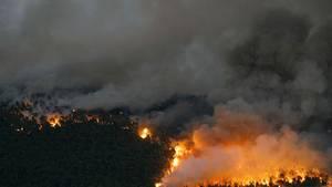 Eine Frau hat ihren Ex-Mann in Brand gesteckt