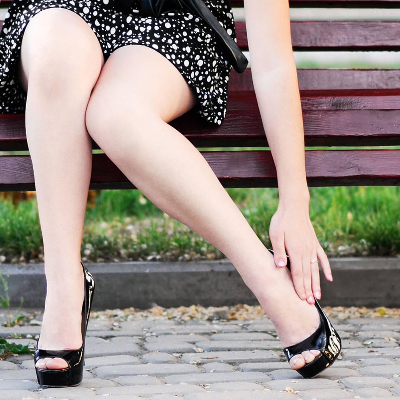 Nehmen Sie Ihre Beine viel ab