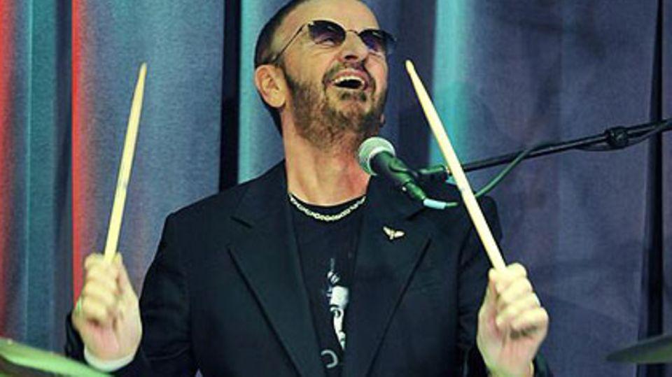 Ringo Starr - auch an seinem 70. Geburtstag wird der Ex-Beatle hinter dem Schlagzeug sitzen