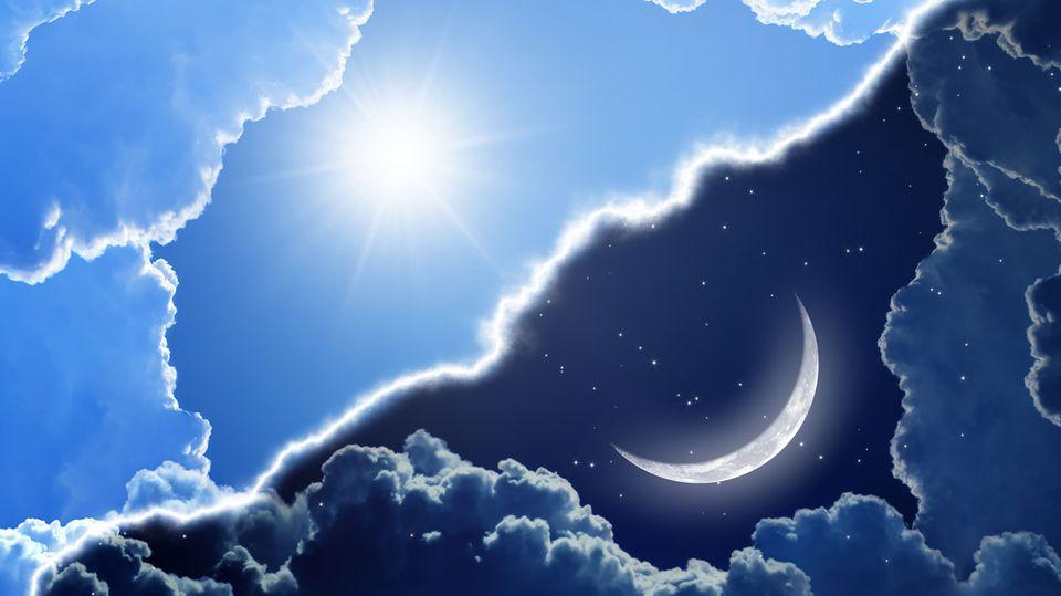 Mond und Sonne: Sie stellen unsere biologische Uhr auf die korrekte Zeit ein