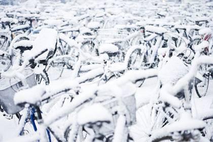 Bei Schnee und Glatteis sollte der Drahtesel erst recht in Topform sein