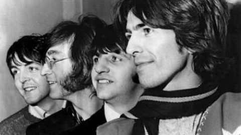 Die Beatles: Paul McCartney, John Lennon, Ringo Starr und George Harrison