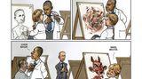 Heute im Zeichenkurs: Putin-Studien