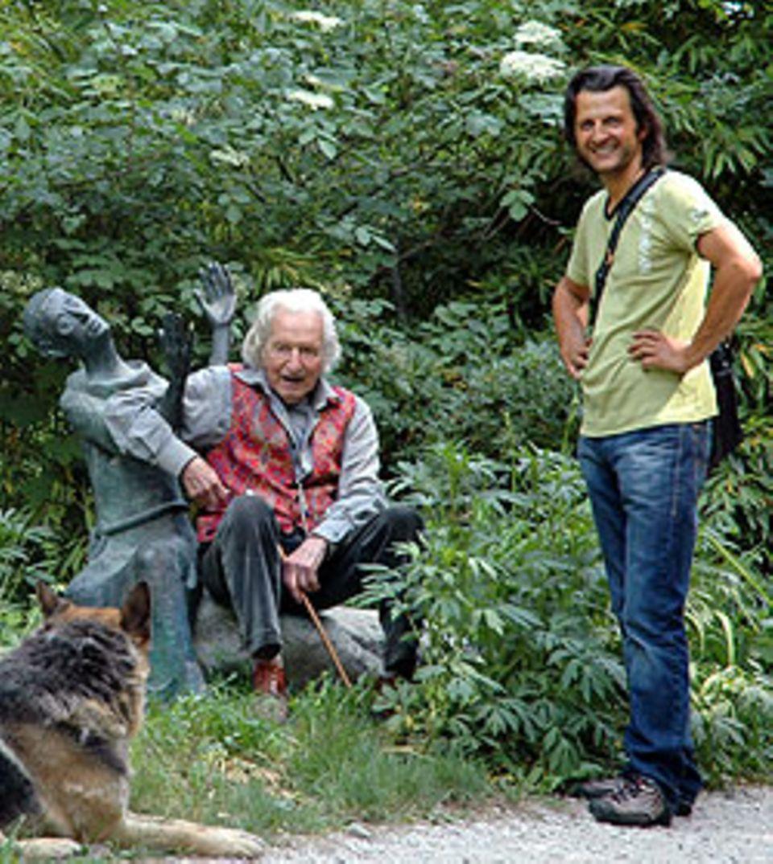 Friedrich Sebastian Feichter mit dem Kunstliebenden Karl Nicolussi-Leck