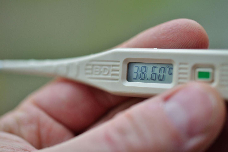 Übersteigt das Fieber 39 Grad, sollten Sie etwas dagegen unternehmen