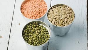 Linsen enthalten viel Eiweiß und sind reich an Mineralstoffen