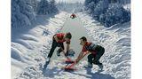Sportliches Schneeräumung