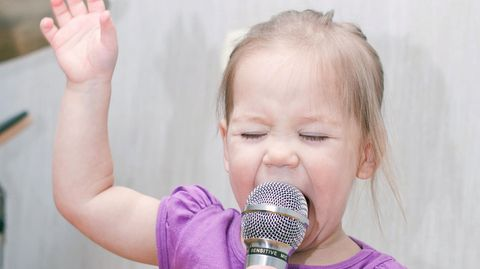 Wenn Kinder singen, dann immer voller Inbrunst