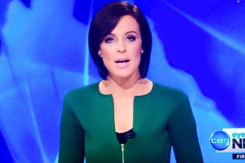Wie eine australische Moderatorin das Netz erregte  Natarsha Belling hatte sich für ihre Moderation der Nachrichten im australischen Fernsehen ein schickes smaragdgrünen Outfits angelegt. Was sie nicht ahnte: Sie erregte damit die Fantasien der Zuschauer. Denn bei genauem Hinsehen erinnert der Blazer-Ausschnitt an die Form eines Penis. Ein gefundenes Fressen für die spottsüchtige Netz-Gemeinde.