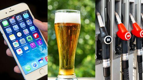 iPhone, Bier und Spritpreise: Die Deutsche Bank Research hat die Preise von alltäglichen Produkten verglichen.