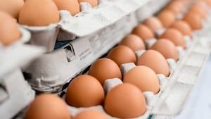 Eier im Supermarkt kaufen