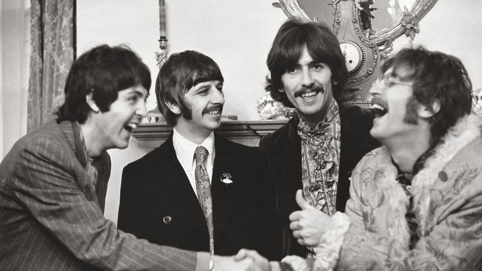 Und natürlich fotografierte sie immer wieder die Beatles, die Band ihres (späteren) Ehemannes Paul McCartney, wie hier im Jahr 1968.
